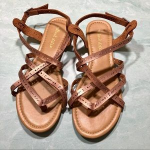 Altar'd State rose gold strappy sandals size 7.5